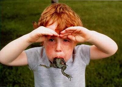 copilul cu broasca