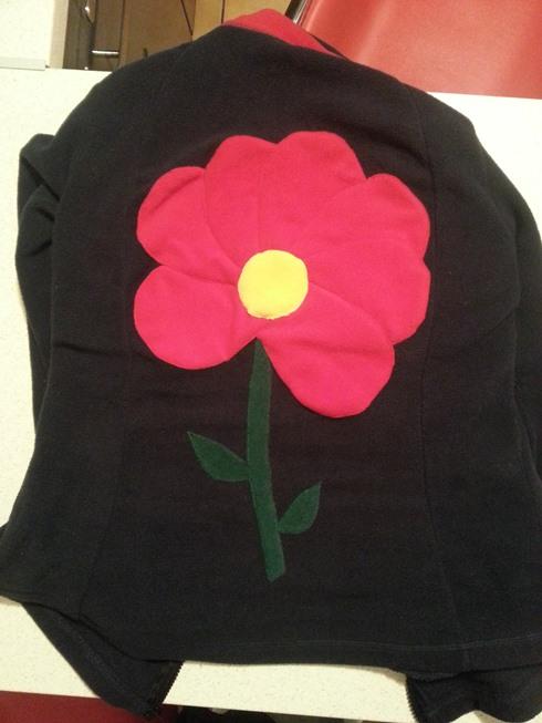 hanorac cu floare