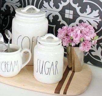 cafea zahar si lingurite